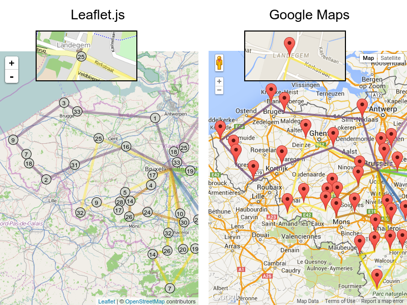 OptaPlanner - Visualizing Vehicle Routing with Leaflet and Google Maps